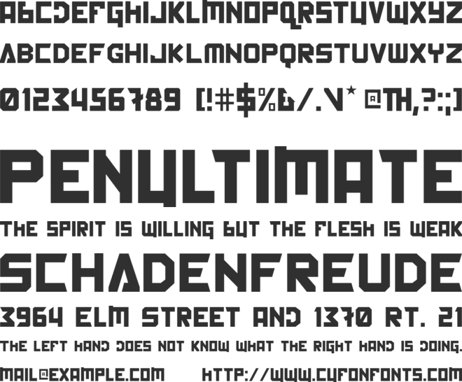 Back In The USSR DL font preview