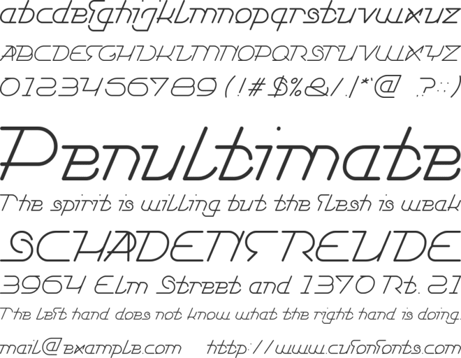 TRUE SELF RELIANT font preview