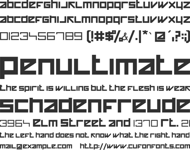 Happy Killer font preview