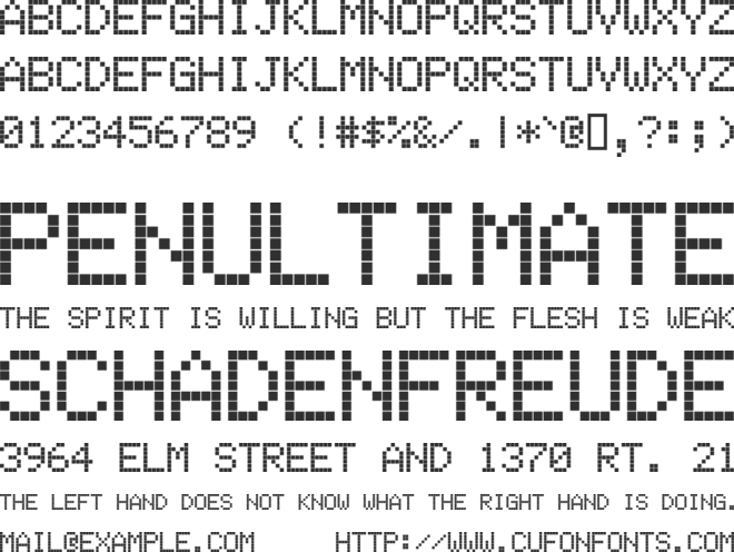 Electronic Highway Sign font preview