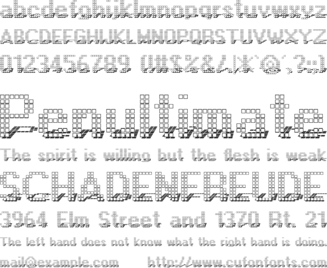 Display font preview