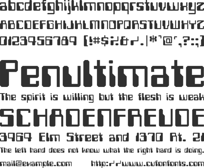 Computerfont font preview