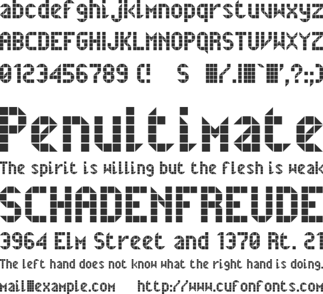 Belfast font preview