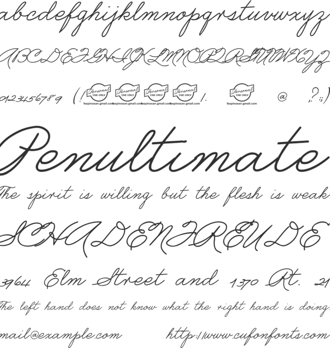 fespipalmer font preview