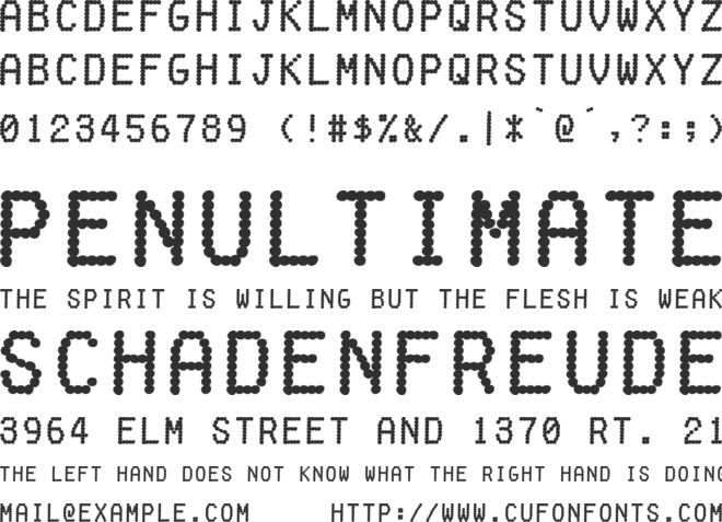 Fake Receipt font preview