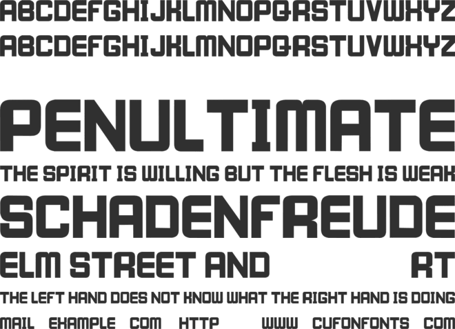 I WILL WAIT font preview