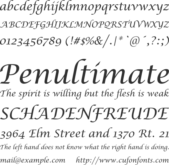 Lucida Calligraphy New font preview