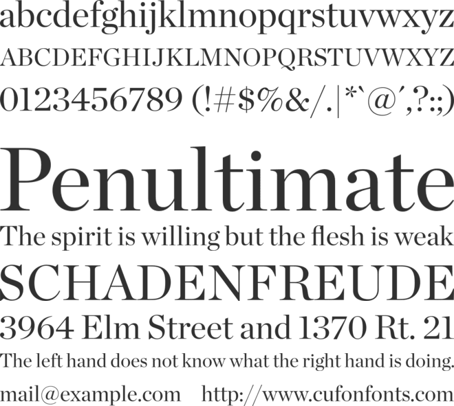 Chronicle Display font preview