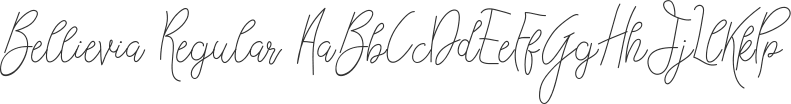 Bellievia font download