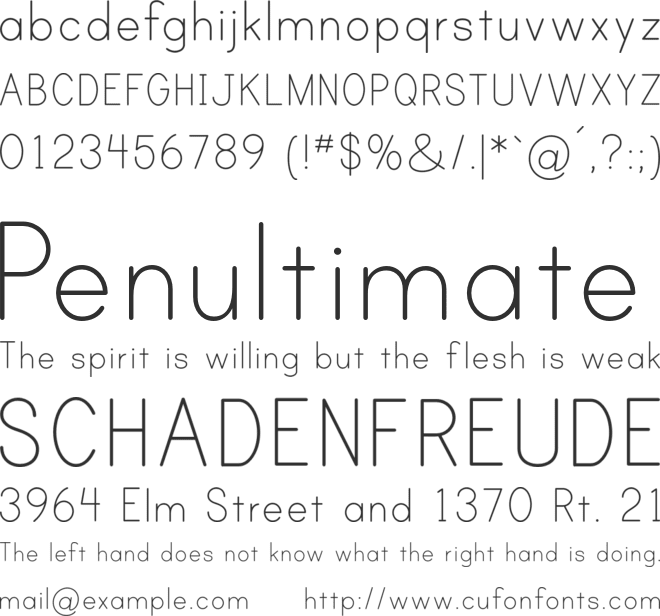 Print Clearly font preview