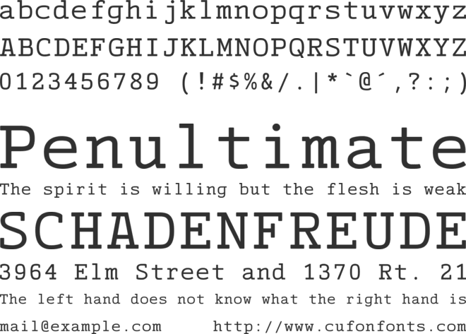 CinecavD Type font preview