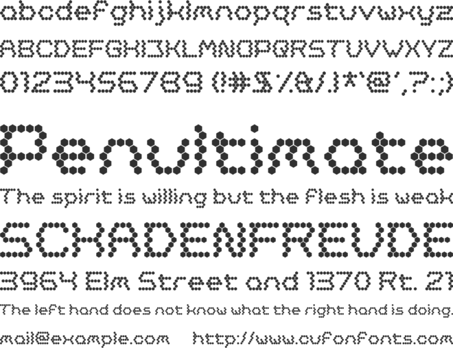 Oh, Beehive! font preview