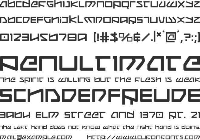 Kobold font preview