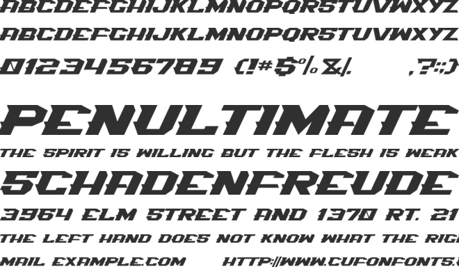 Spiky-016 font preview
