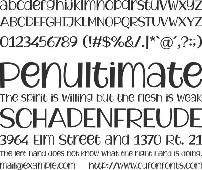 Watermelon Family font preview