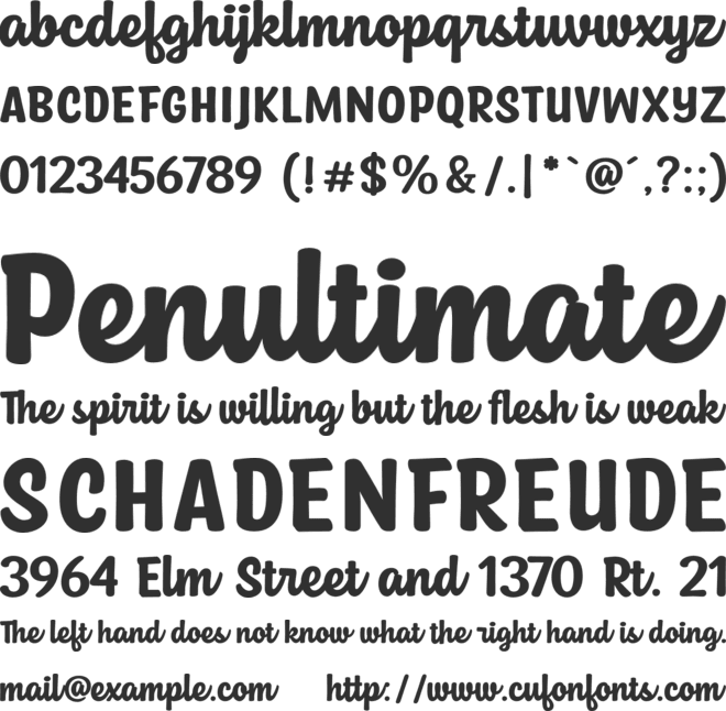 Owl Cute font preview