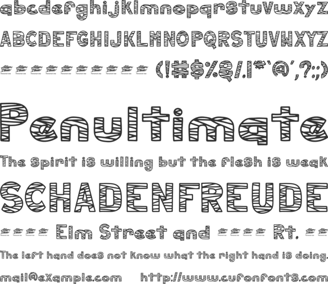 hollow mummy display - Personal font preview