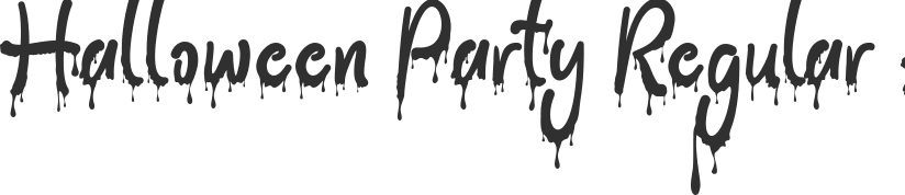 Halloween Party font download