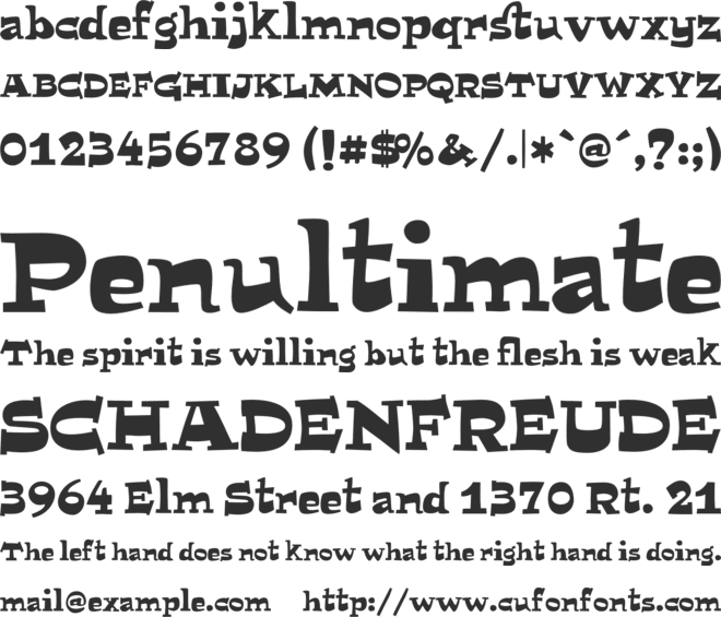 MiTica font preview