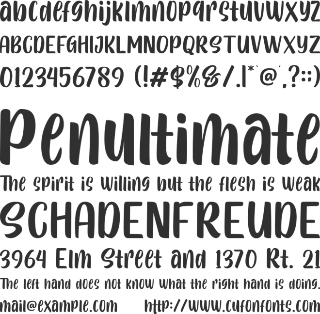 Sttalline font preview