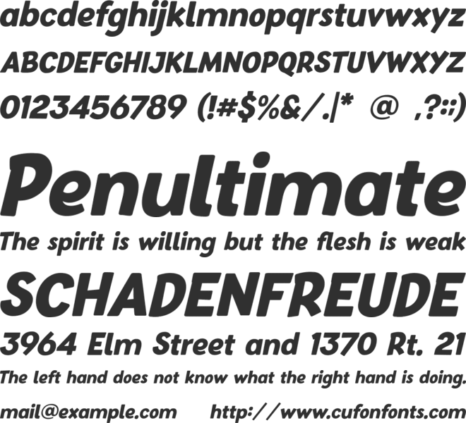Baby School font preview