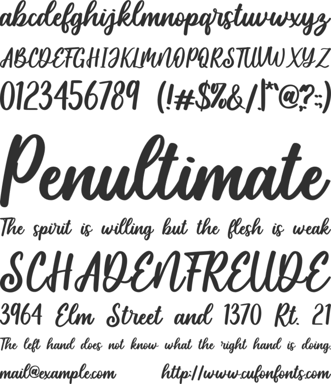 Monday-Personal Use font preview