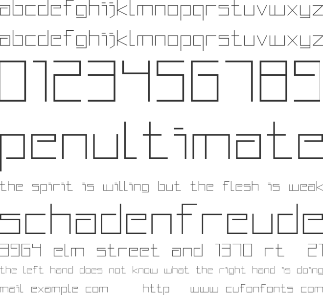 Squared Display font preview