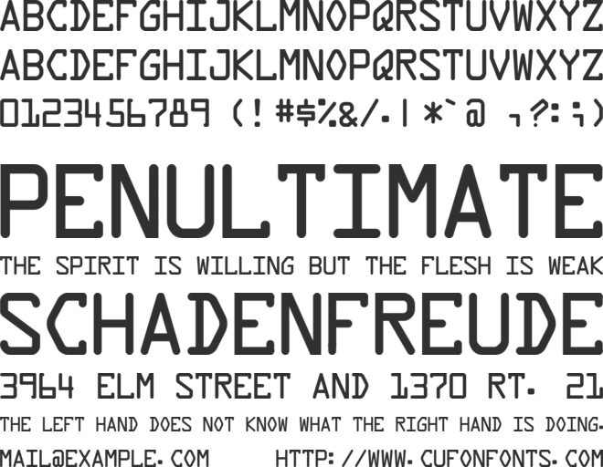 Data Control font preview