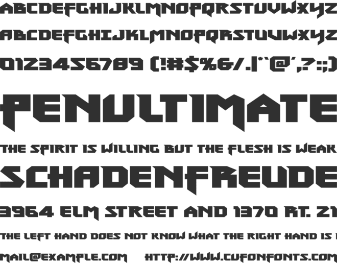 Heavy Copper font preview