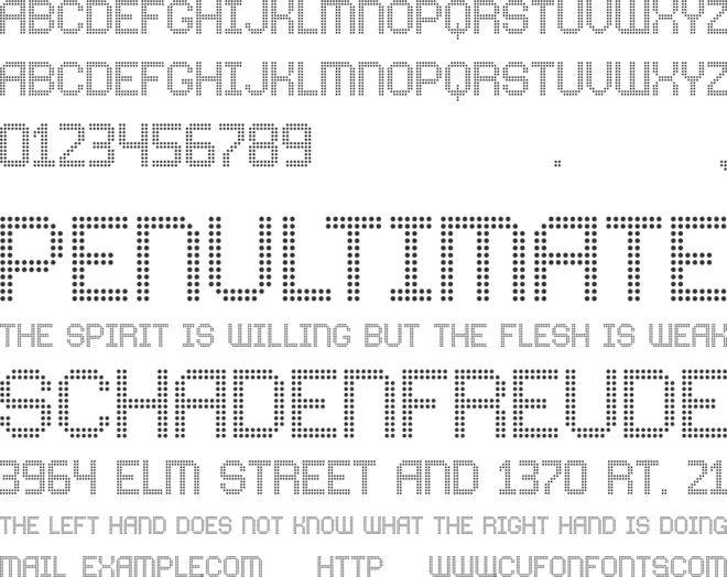 Comodot Round font preview