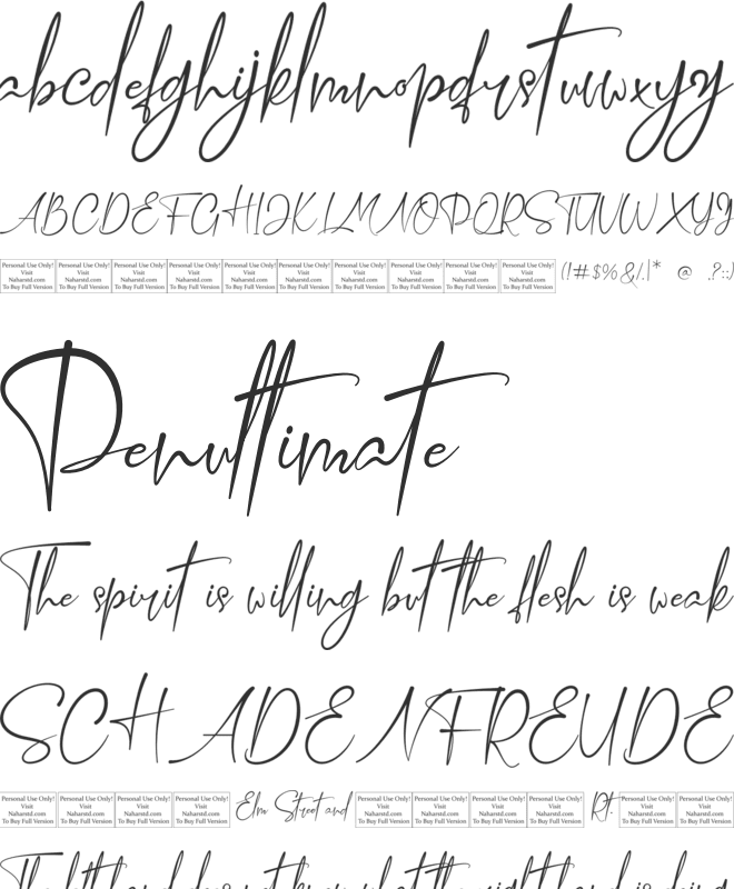 Confidently font preview