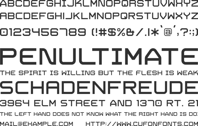 Trivial font preview