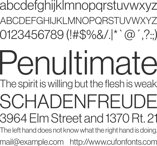 Neue Haas Grotesk Display Pro font preview
