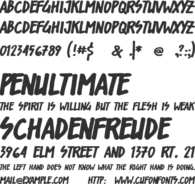 Shorelines Display font preview