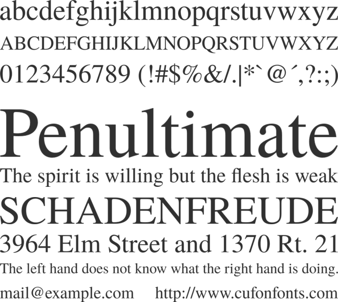 TeX Gyre Termes font preview