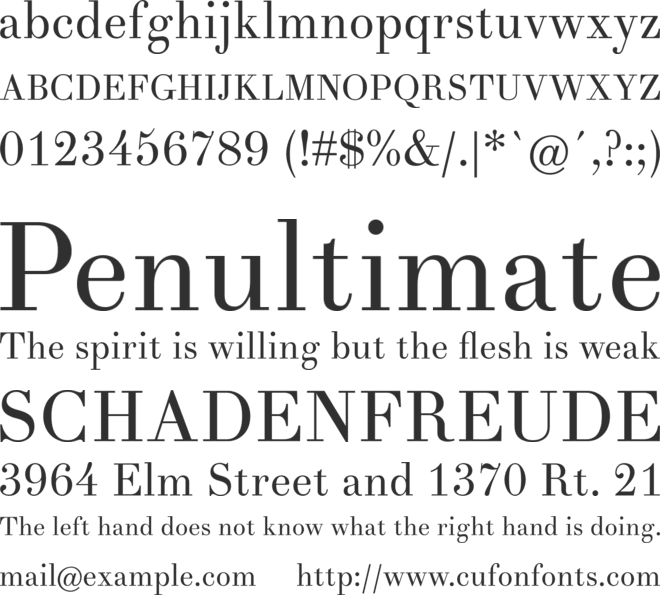 Theano Didot font preview