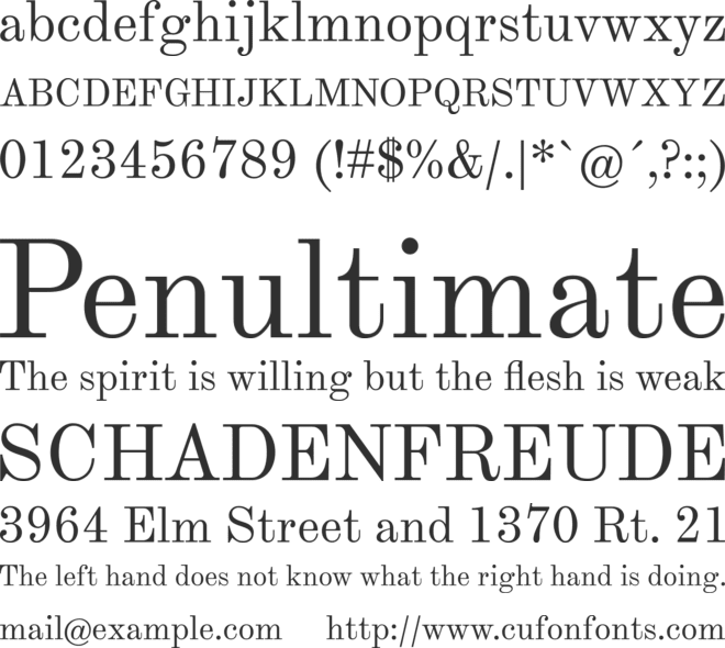 Theano Modern font preview