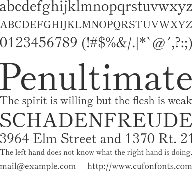Theano Old Style font preview