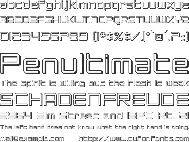 SF Chromium 24 font preview