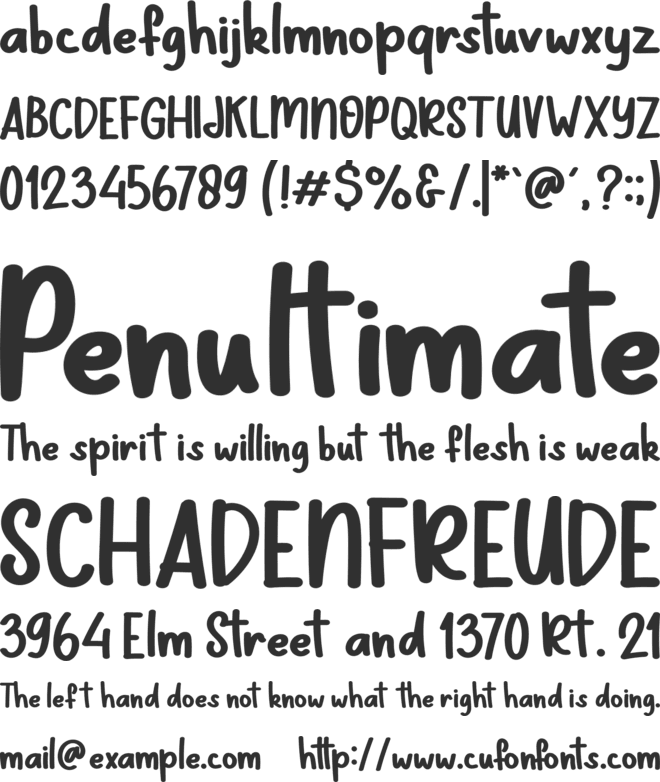 Note Kids School font preview