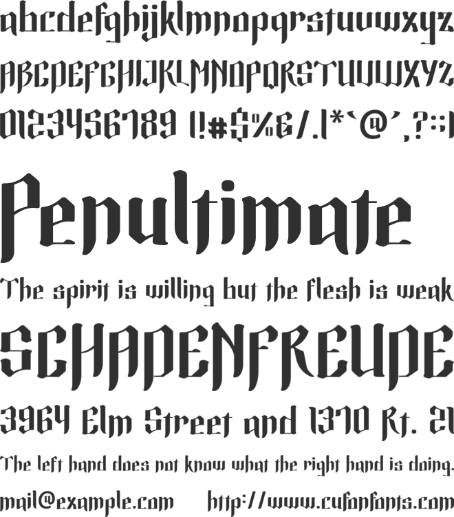 Excellent Display Font font preview