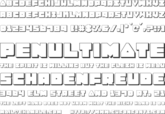 Lobotommy font preview