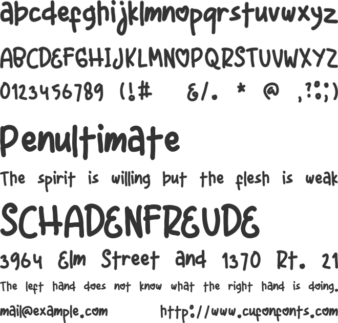 Just Friend font preview