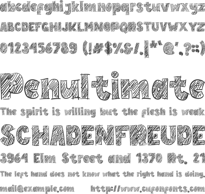 Hand Write font preview