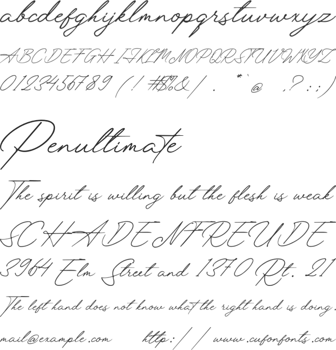 Luxembourg Signature font preview