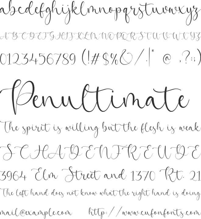Beatrica font preview