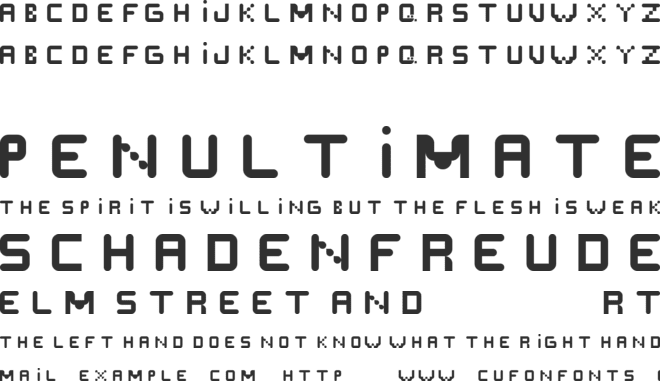 Scrept font preview