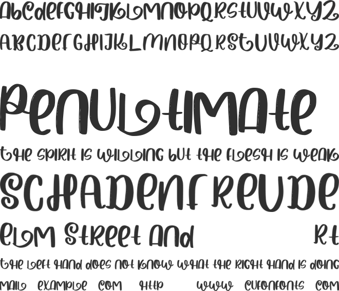 Halloween Spooky font preview