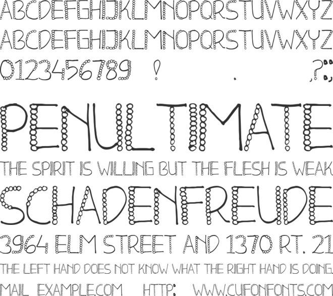 BLEND font preview