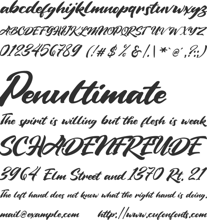 Vintage Style font preview
